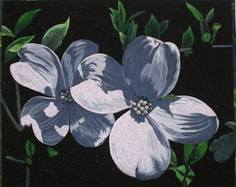Dogwood Blossoms Art Quilt Pattern by Lenore Crawford