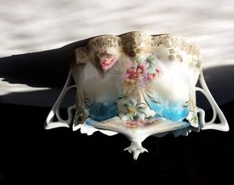 Art Nouveau Covered Serving piece, Art Nouveau Sugar Bowl,Reduced Price
