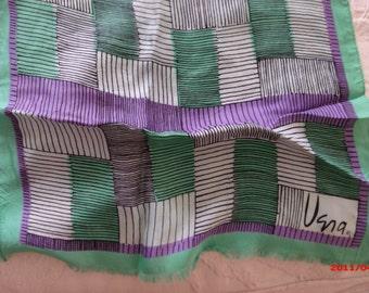 Vintage Vera Neumann Silk Scarf Shawl Wrap Retro Chic