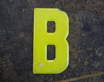 MARQUEE Letter B Vintage Steel Metal Letter Signage