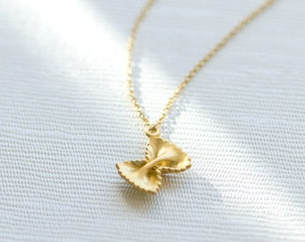 Dainty Pendant necklace, Pasta necklace, Gold filled necklace, Charm necklace, minimalist necklace, dainty necklace, pasta charm