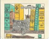 Bookin' Kitty Note Card