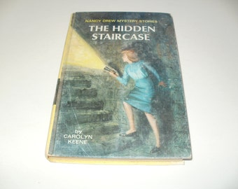 Vintage 1959 Nancy Drew Mystery Book - The Hidden Staircase by Carolyn Keene