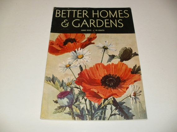 Vintage Better Homes And Gardens Magazine June 1935 Flower