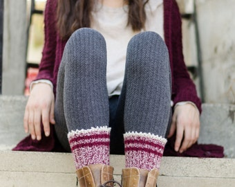 Portland Boot Liners PDF Knitting Pattern Instant Download