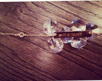 Gold Bar Crystal Necklace Vivre Ce Moment