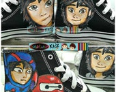 BOYS OR GIRLS Let me paint your canvas shoes -  Boutique custom Personalized