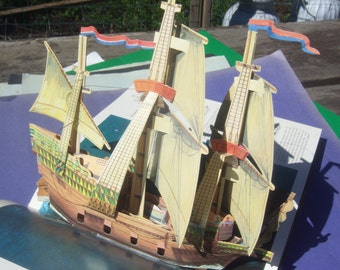 Large 3 D Pop-Up Sailing Ships Book