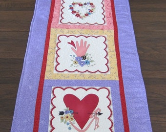 Valentine Wall Table Runner or Wall Quilt