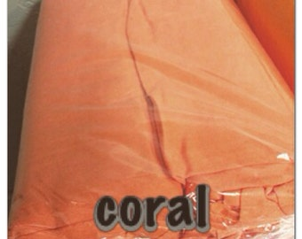 Tahitian PAREU full length CORAL no fringe pareo