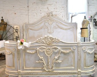 Painted Cottage Shabby  French Romantic Bed  KING  BD718