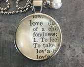 Dictionary Word Necklace - Love