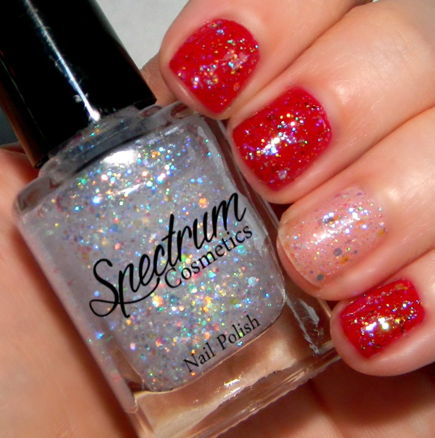 Opalescent Nail Polish: Iridescent Glitter Nail Polish TWINKLE From