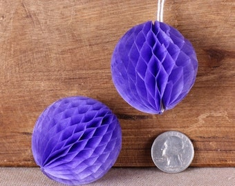 "Teeny Grape Purple Honeycomb Balls, 2"" Honeycomb Ball, Purple Wedding Decorations, Purple Honeycomb Ball, Honeycomb Ball Straw Topper (6 ct)"