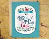 A Bushel & a Peck Greeting Card | Love and Friendship Greeting Card | Hand Lettered | Blue | A2 | Made in the USA | GC 008