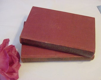 1927 Art Deco Red Cloth with Gold Spine Decor TOM JONES Henry Fielding Books Set Vintage
