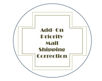 Add-On: Priorty Mail shipping correction- Ordered First Class- Should be Priority
