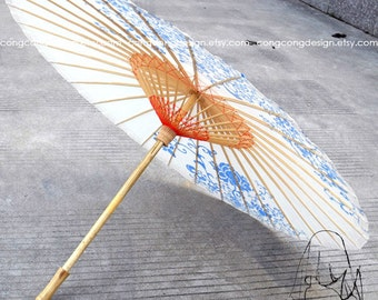 84cm(33inch)Diameter(opened) Chinese Painting High quality process paper parasol