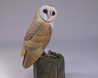 "5-1/2"" Barn Owl Wood Carving"