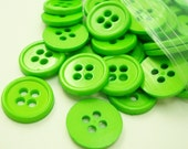 """Grass Green 1/2"""" (13 mm) buttons, Qty 75"""