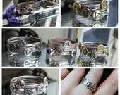 Legend of Zelda Ocarina of Time Inspired Stack Ring in Sterling Silver