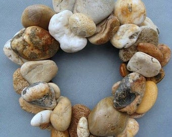 Butterscotch Rock Wreath or Candle Ring-RW316
