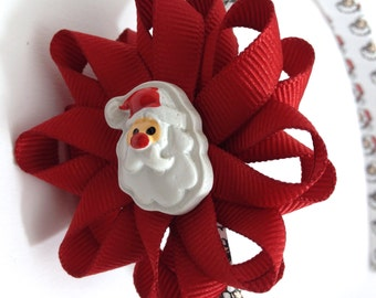 Santa Claus, Christmas Hair Bow Headband