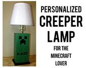 CREEPER Table Lamp - Minecraft, Unique Kids Bedroom Decor, Children's Lamp
