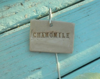 Handmade Ceramic Chamomile Plant Marker