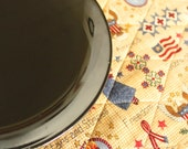 Americana Cloth Placemats Set of 4 - Patriotic with Liberty and Stars and Stripes