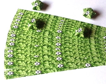 Lucky Stars Paper Strips - Cute Pandas in a Bamboo forest