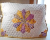 Sewing Machine Cover -Purple/Lavender-Dresden Plate- Aunt Grace Reproduction Feedsack Fabrics- Handmade
