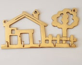Vintage Brass Jewelery Hanger - Wall Plaque