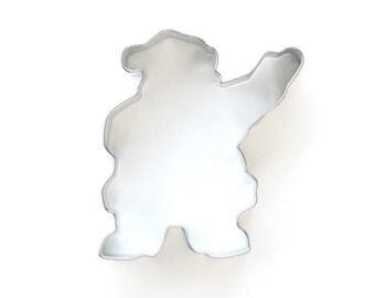 Santa Claus Cookie Cutter, Waving Santa Cookie Cutter, Christmas Cookie Cutter
