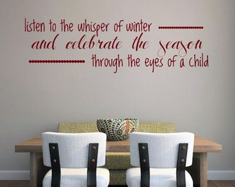 Listen To The Whisper Of Winter And Celebrate The Season Through The Eyes Of A Child - Seasonal Wall Decals