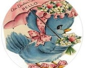 Envelope Sealers -Hello Easter Blue Bird