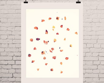 "Botanical Print, Botanical Art, Poster,  Floral Print - ""Orange you glad.."" Botanical Poster Prints, Orange Spots Print, Orange Red Print"