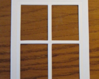 8 Window Die Cuts: White Stamping supplies Handmade card