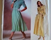 Vogue 1889 Albert Nipon Misses Dress Size 12 UNCUT