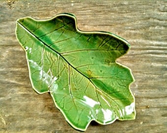 Tapas Plate, Pottery Tapas Plate, Serving Plate, Leaf Plate, Tapas Small Plate, Pottery Leaf Plate, Ready To Ship