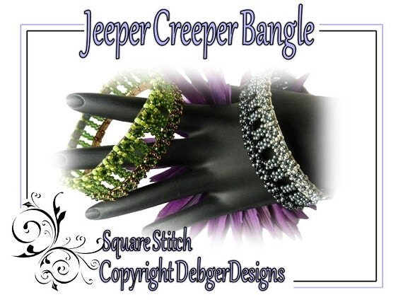 Jeeper Creeper Tila Bangle - Beading Pattern Tutorial