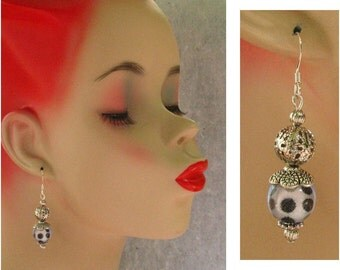 Polka Dot Dangle Earrings Handmade Jewelry Women Accessories Fashion Beaded Hook Drop Charm