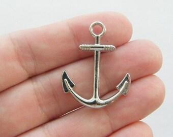 6 Anchor charms tibetan silver SC31