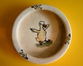 Weller Art Pottery Zona Duckling Chids Dish - 1930s