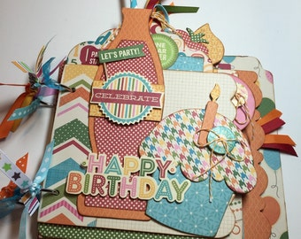 Party Celebration Mini Album with Premade Pages