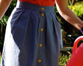 Helena skirt PDF womens sewing pattern