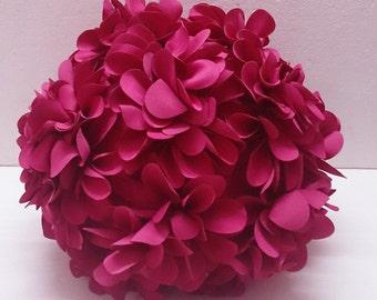 fushia pink flower pillow round pouf circular fibre pillow nursery decor baby pillow sofa pillow bedroom decor wedding home decor gift