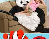 Sew & Make Simplicity 3955 SEWING PATTERN - Rag Quilts Panda Clown Fish Ladybug Throws