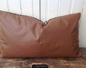 Upcycled Leather Pillow No. 1
