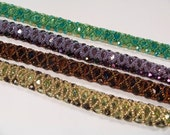 Fire Polish Bracelet Bead Weaving Pattern in PDF